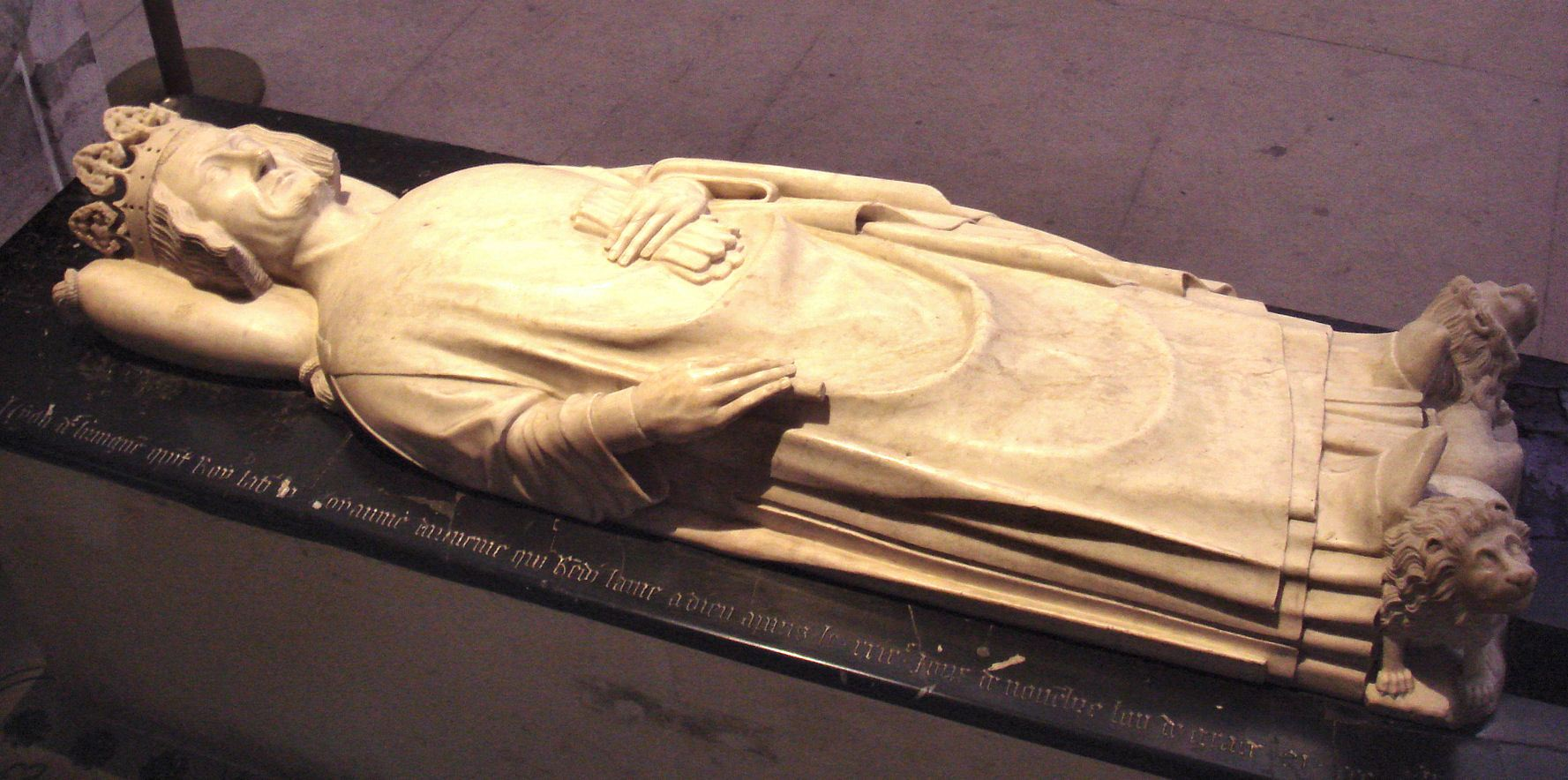 The tomb of King Leo V of Armenian Cilicia, at the Cathédrale royale de Saint-Denis, just north of Paris