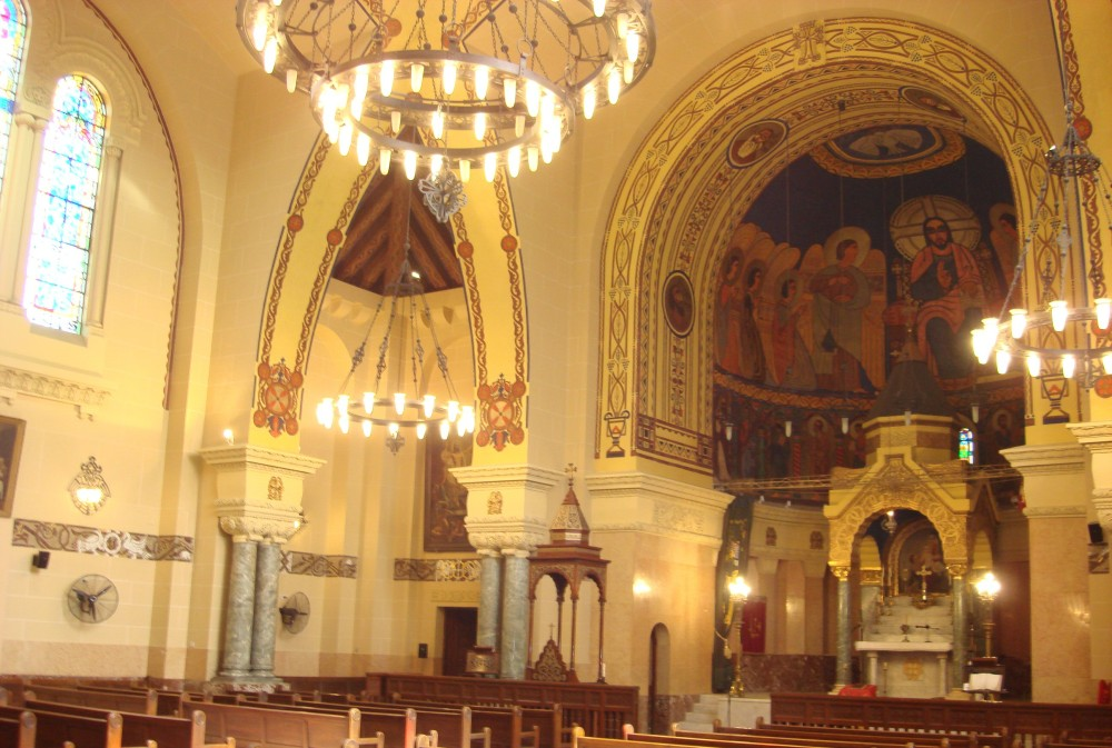 The interior of one of numerous Armenian churches across the world named for St. Gregory the Illuminator, this one in Cairo, Egypt
