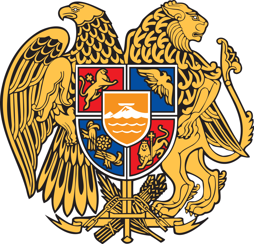 The coat of arms of the Republic of Armenia, adopted on April 19, 1992