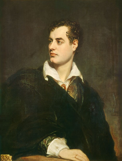 A painting of Lord Byron by Thomas Phillips (1770-1845)
