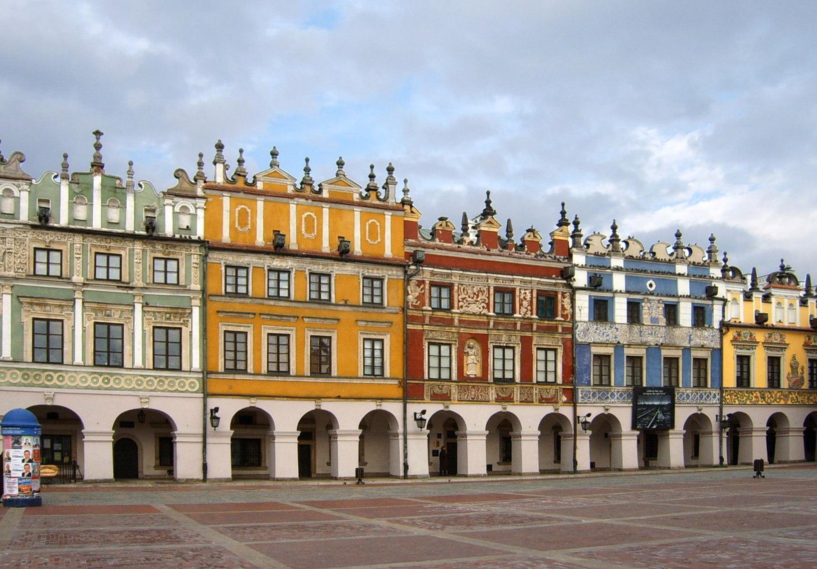 Houses of Armenian merchants dating back to the 17th century, by the market square in Zamość, south-eastern Poland; the Old City of Zamość is on the UNESCO World Heritage List