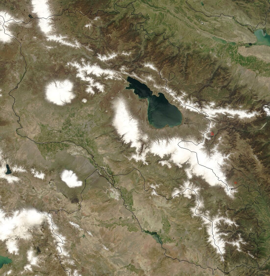 A satellite's-eye-view of Armenia